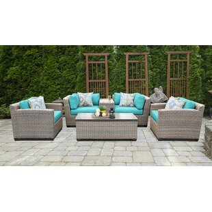 Meeks 6 Piece Sectional Seating Group Set with Cushions