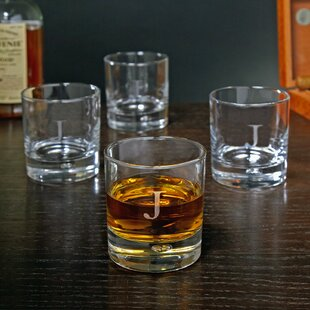 Bryne Personalized 10.5 oz. Double Whiskey Glass (Set of 4)