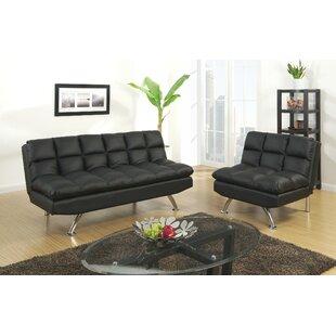 Orren Ellis Rohde Sleeper 2 Piece Living Room Set