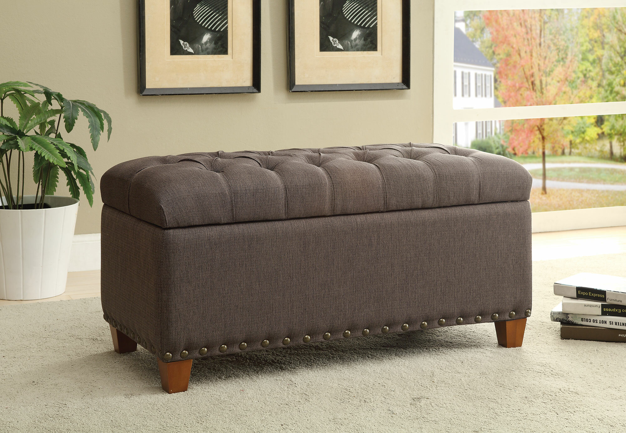 Magnificent Lowman Accent Upholstered Storage Bench Dailytribune Chair Design For Home Dailytribuneorg
