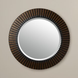 Round Eclectic Accent Mirror by World Menagerie