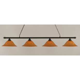Mendez 4-Light Tiger Shade Billiard Light by Red Barrel Studio