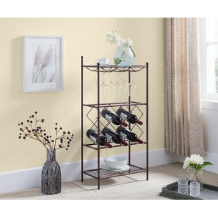 Sikora 8 Bottle Floor Wine Rack