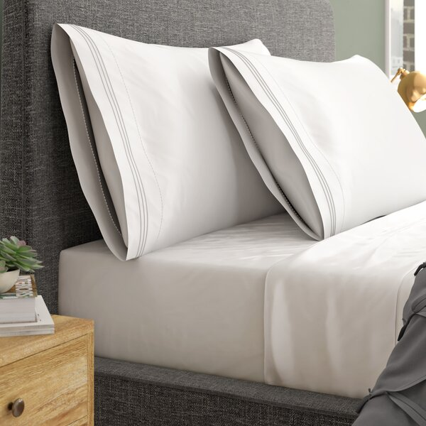 The Big One Gray Cotton Rich Sheet Set 250 Thread Full Bed Sheets