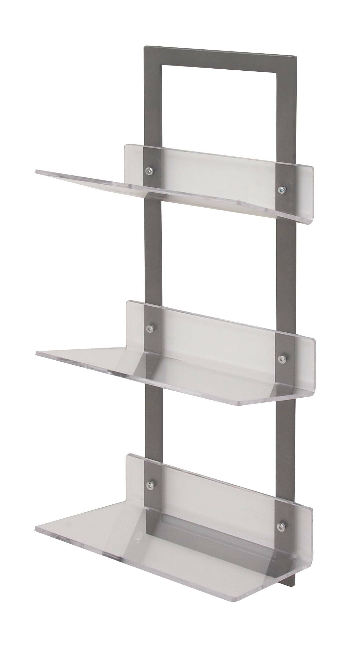 Mercer41 Whipton Metal Acrylic Floating Shelf Wayfair