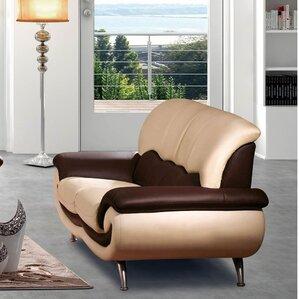 Devyn Leather Loveseat by Orren Ellis