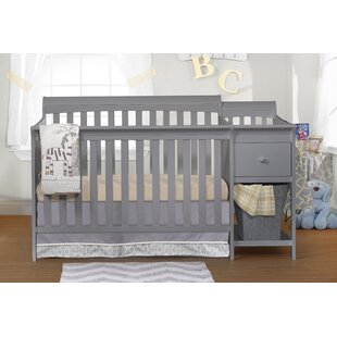 Searching for 4-in-1 Convertible Crib and Changer Combo By Harriet Bee
