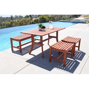 Kaiya 4 Piece Dining Set by Longshore Tides
