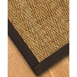 Top Reviews Maglio Border Hand-Woven Brown/Onyx Area Rug By Gracie Oaks