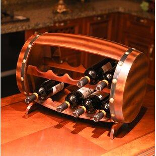 Gunnar Wooden Barrel 10 Bottle Floor Wine..
