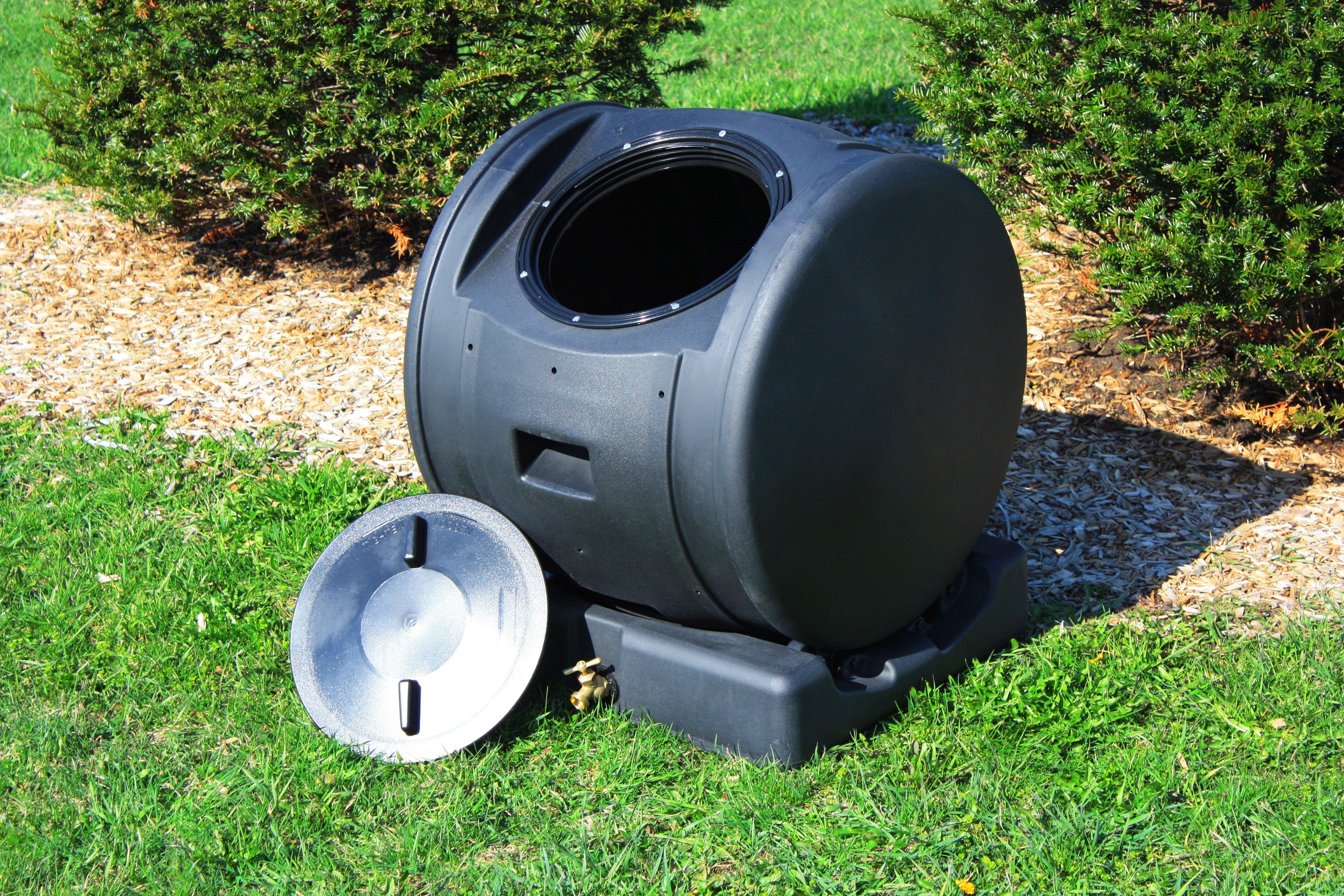 Good Ideas Compost Wizard 48 6 Gal Tumbler Composter Reviews Wayfair