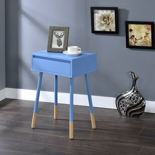 Rhone End Table with Storage by Turn on the Brights