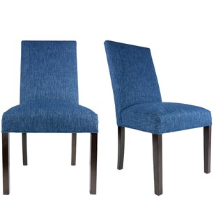 Lloyd Upholstered Contemporary Parsons Chair (Set of 2) Latitude Run
