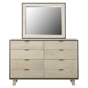 Brayden Studio Belmar 8 Drawer Standard Dresser/Chest with Mirror