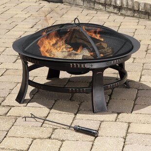 Brant Wood Burning Circular Fire Pit In Rubbed Bronze By Pleasant Hearth