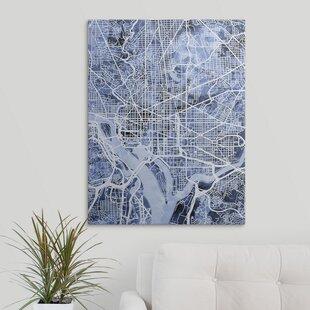 Washington Dc Map Wall Art Wayfair