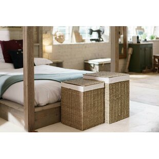 Square Wicker 2 Piece Laundry Set By August Grove