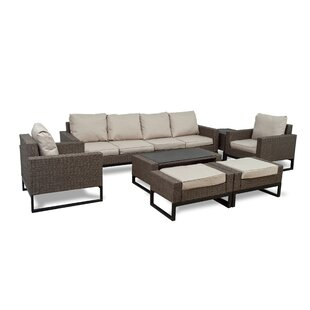 Bawden 8 Piece Rattan Sofa Seating Group with Cushions