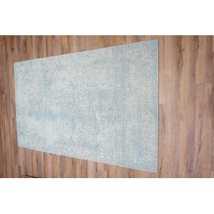 Kara Cotton/Polyester Blue Area Rug by World Menagerie
