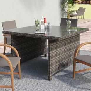 Neo Glass Dining Table by Beachcrest Home