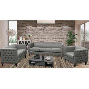 Marrs Modern 3 Piece Living Room Set by House of Hampton