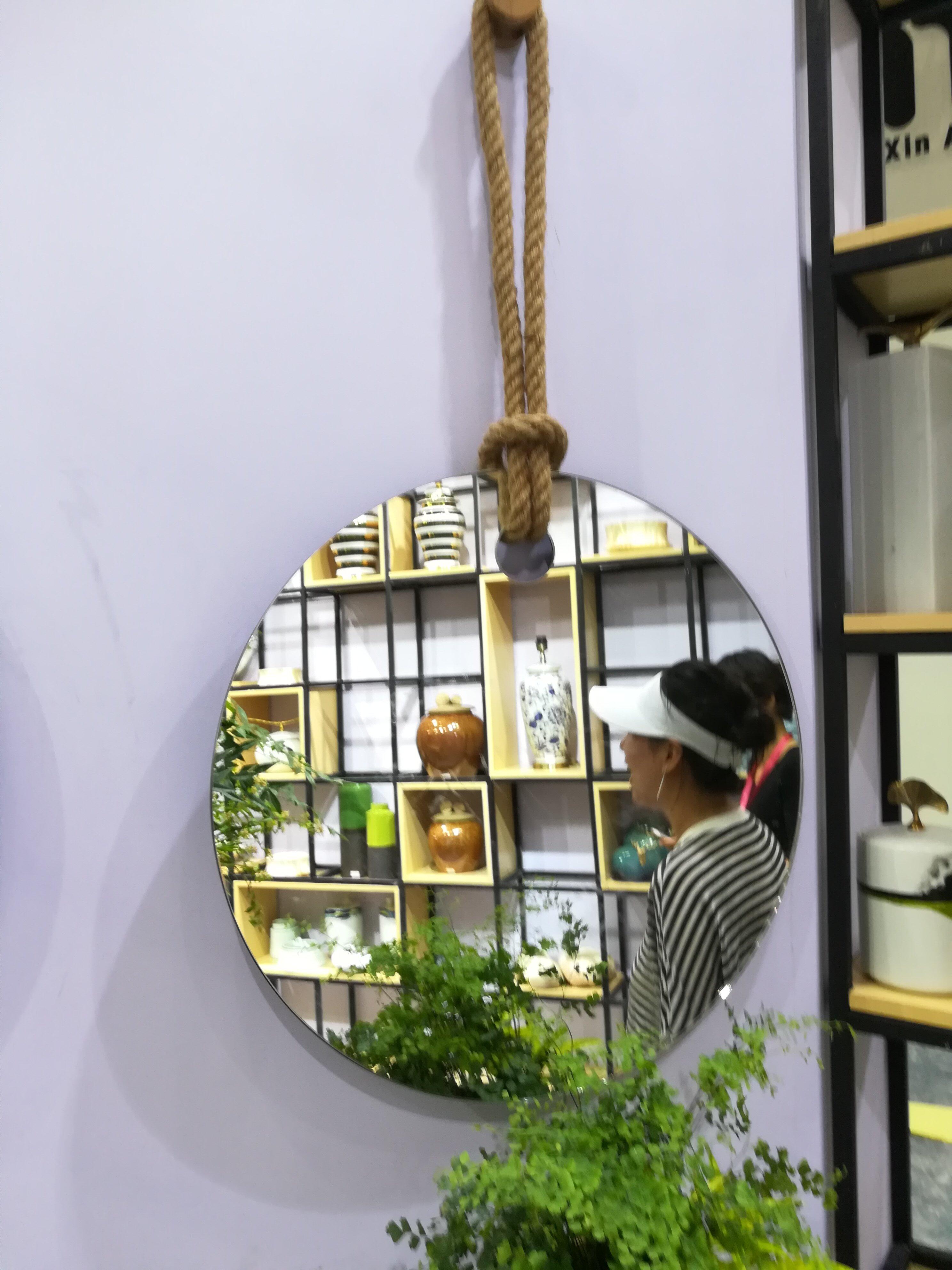 Mayes Round Frameless Wall Mirror