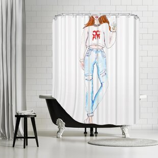 Palladium Coffee Drip Single Shower Curtain