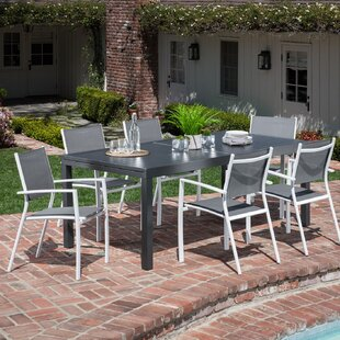 Latitude Run Cy 7 Piece Outdoor Patio Dining Set