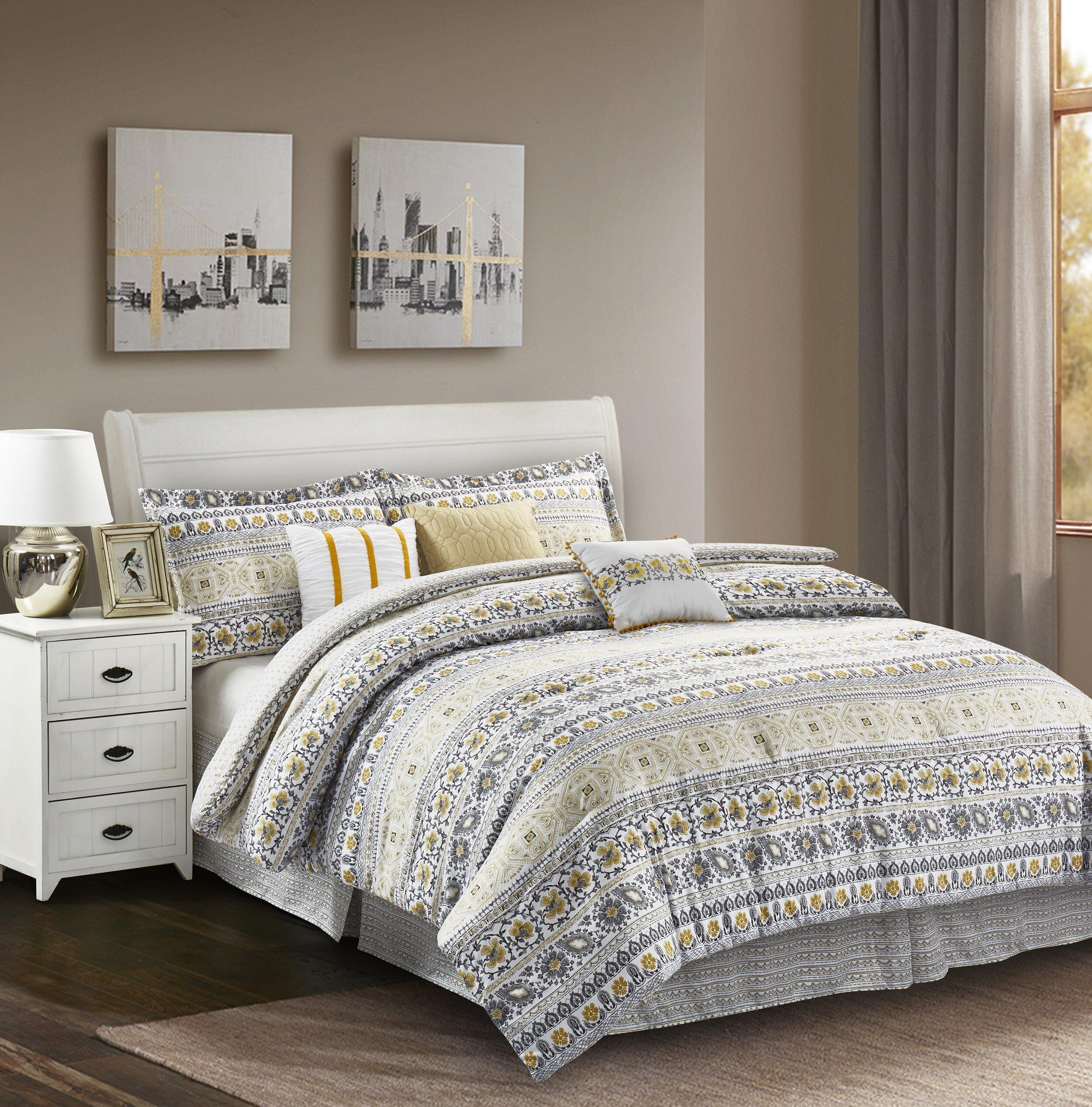 Bungalow Rose Tehama Reversible Comforter Set Reviews Wayfair
