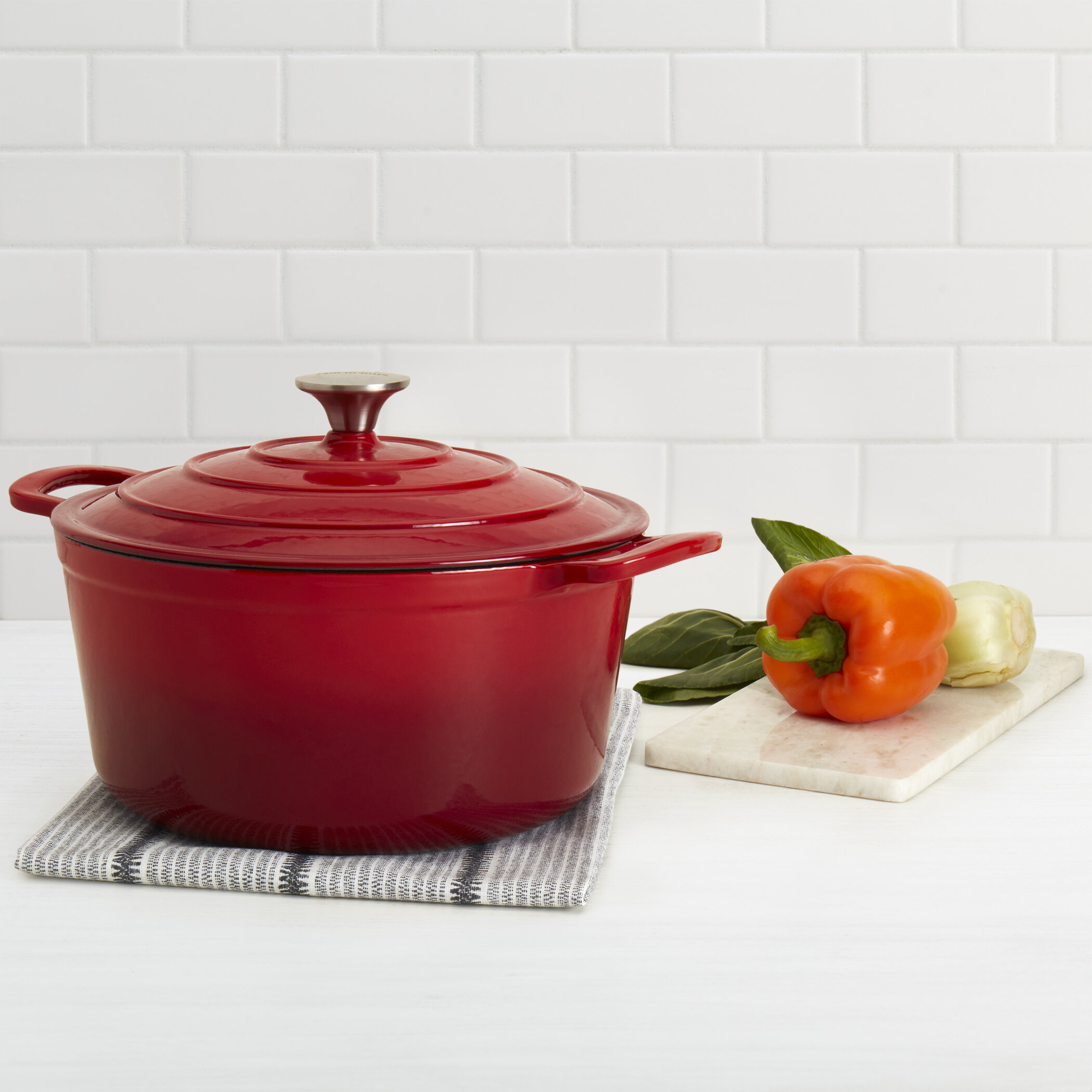 Epicurious 6 Qt Cast Iron Round Dutch Oven Reviews Wayfair