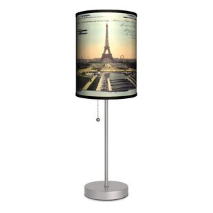 Travel Paris Eiffel Tower Postcard 20 Table Lamp