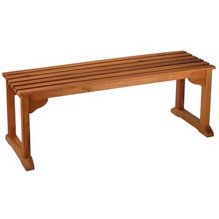 Highland Dunes Kenshawn Wood Bench