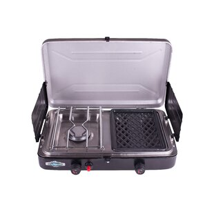 Stansport Portable 2-Burner Propane Grill and Stove Combo