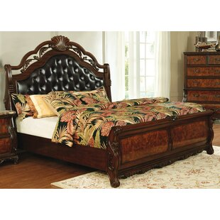 Hollington Tufted Low Profile Sleigh Bed