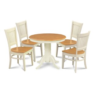 Reichert 5 Piece Solid Wood Dining Set Charlton Home