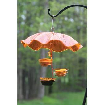 Small Birds Choice ODF Copper Double Cup Bird Feeder Orange
