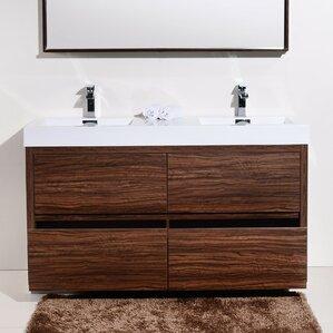 60 inch double vanities you ll love wayfair