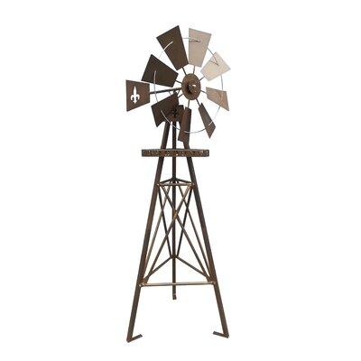 Tremendous Leighcountry Foster Six Feet Fleur De Lis Tripod Windmill Bralicious Painted Fabric Chair Ideas Braliciousco