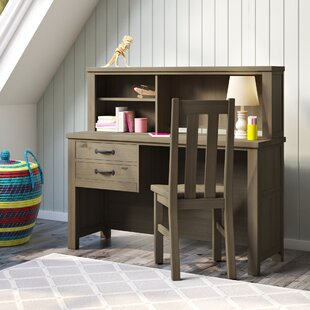 Bedlington 5975 Kids Study Writing Desk and Chair Set with Hutch by Greyleigh