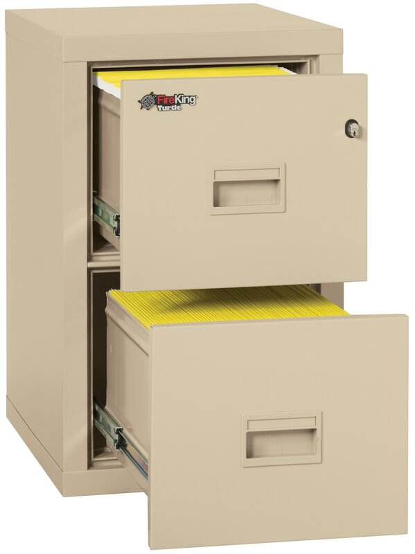 Turtle Fireproof 2 Drawer Vertical File Cabinet