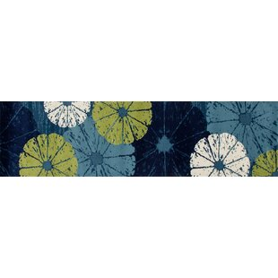 Ceasar Citrus Slice Blue Indoor/Outdoor Area Rug