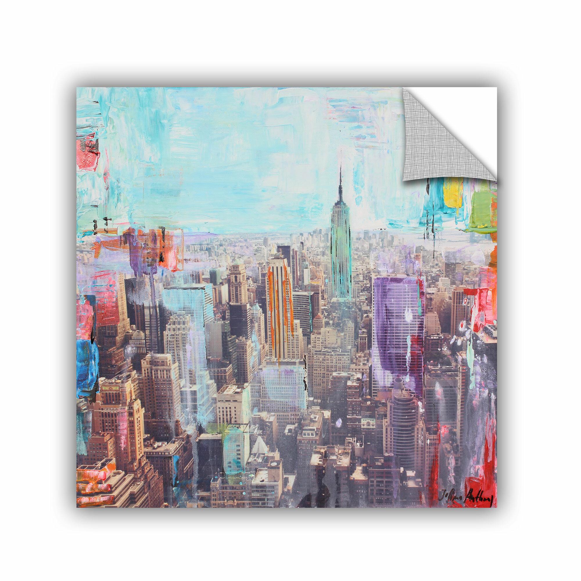 Wrought Studio Printers Row Vibrant Skyline Wall Mural Wayfair