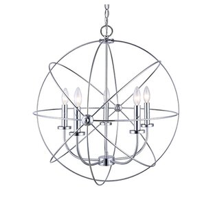 Ivy Bronx Waldron 5-Light Globe Chandelier