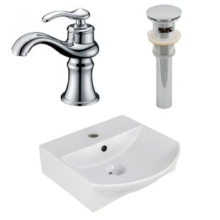 Savings Ceramic 13.75 Bathroom Sink with Faucet and Overflow By Royal Purple Bath Kitchen
