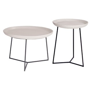 Places to buy  Perpetual 2 Piece Link Stone/Concrete Side Table Best Deals