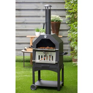Barbecues, Grills & Smokers Outdoor Pizza Oven Portable Bbq Stone Base Temperature Gauge Steel Box Gas Grill