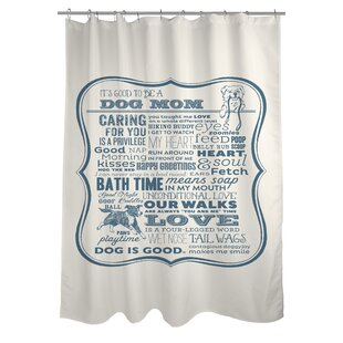 Doggy Decor Dog Mom Single Shower Curtain