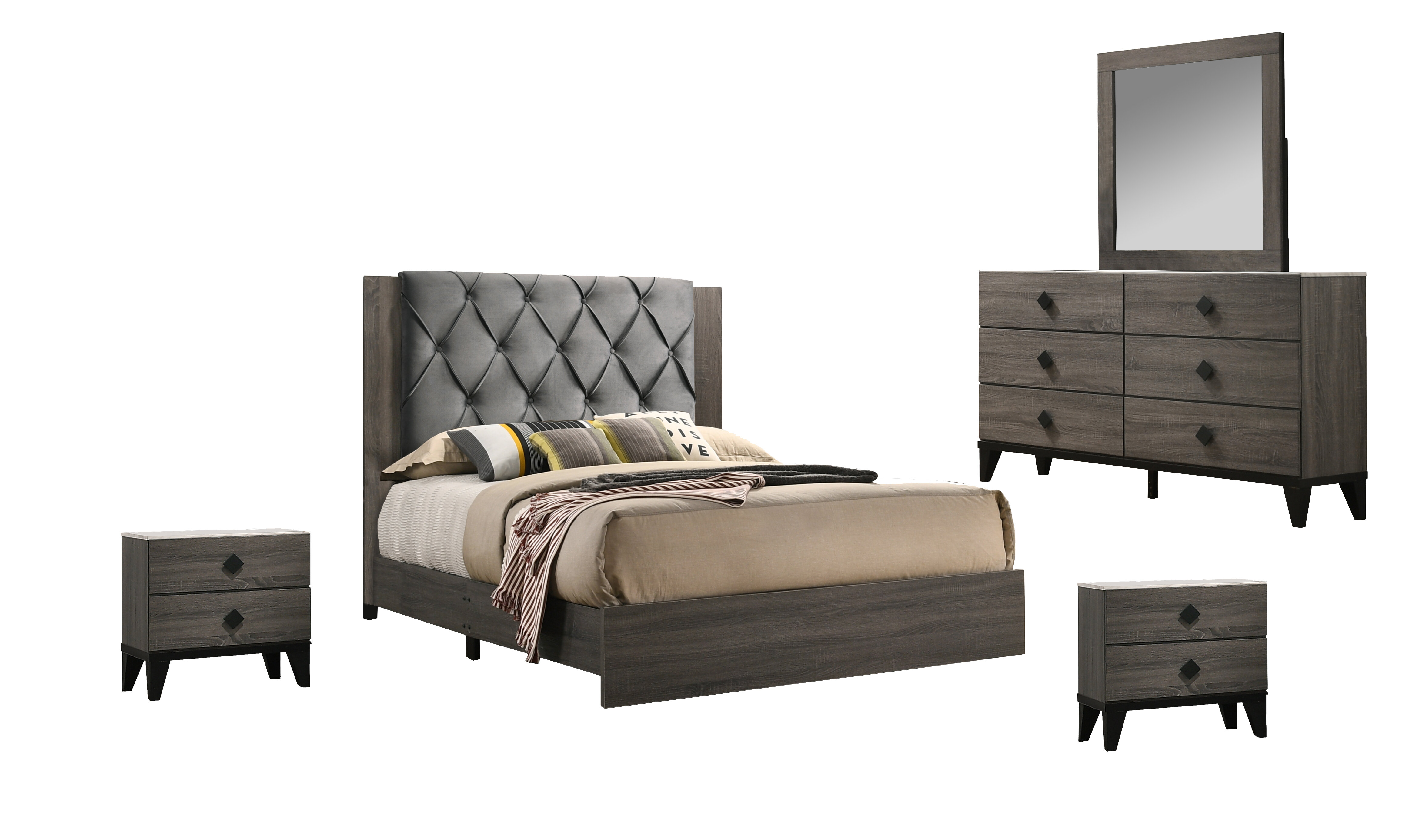 Union Rustic Coletta Standard 5 Piece Bedroom Set Wayfair