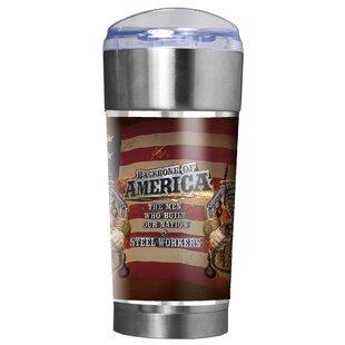 Steel Workers Backbone of America 24 oz. Insulated Tumbler
