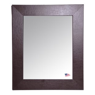 Darby Home Co Espresso Wide Leather Wall Mirror